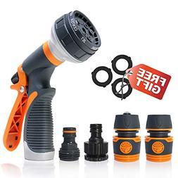 Water Hose Nozzle Sprayer, Spray Nozzle Heavy Duty 8 Adjusta