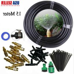 Water Irrigation Kit Set Micro Drip Watering System Plant Ga
