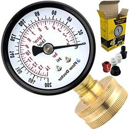 Flow Doctor Water Pressure Gauge Kit, All Purpose, 6 Parts K