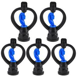 Awakingdemi Water Sprinkler, 5pcs 360°Rotating Plastic Gard