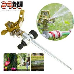 Water Sprinkler Garden Lawn Impulse Metal Spike Grass Hose 3