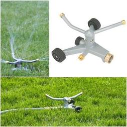 Wheeled Metal base Rotary Lawn Sprinkler Durable Stable Circ