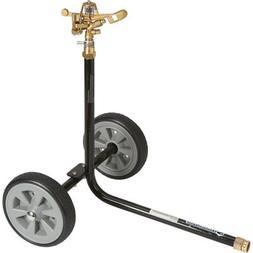 Strongway Wheeled Sprinkler - 3/4in. Brass Sprinkler Head wi