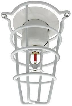 "White Fire Sprinkler Head Guard for Both 1/2"" & 3/4"" Sprink"