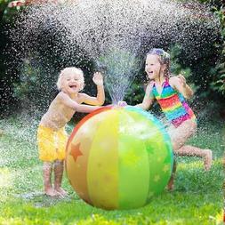 Yard Games for Kids Sprinkler Toy Rainbow Beach Ball  !!! HO
